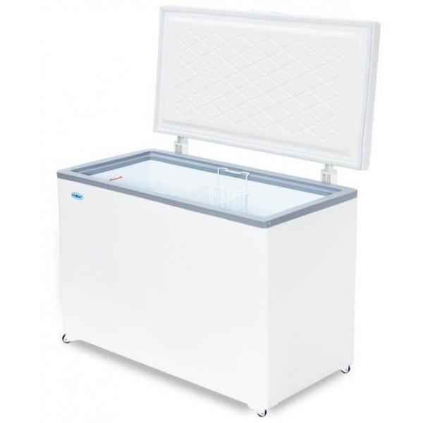 Ларь морозильный Снеж МЛК-400 нерж. крышка